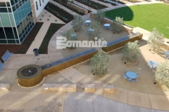From forming the walls, sourcing the hard to locate epoxy coated rebar, to pouring the Bomanite smooth-troweled, integrally colored concrete, Heritage Bomanite's laborious and purposeful efforts resulted in the creation of this relaxing, restorative fountain outside of the Clovis Community Medical Center.