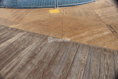 Bomanite Imprint Systems are available in a multitude of various patterns like wood grain, stone, and other natural textures and will provide the flexibility, strength, and durability that other paving materials lack – custom patterns and textures are also an option and the large hexagonal stamps used here were completely unique to this project and added a stunning design feature that enhances the overall aesthetic.