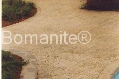 Bomanite Ashlar Slate with Band around Pool Imprinted Concrete