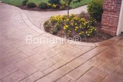 Bomanite Ashlar Slate Imprinted Concrete with Banding