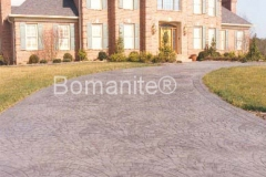 Bomanite Fishscale Belgium Block with Ashlar Slate Imprinted Concrete