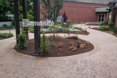 The Dr. Sanford and Lois Benjamin Healing Garden is a welcome haven that was beautifully enhanced using Bomanite Imprint Systems and landscape architecture by BlocDesign to create a tranquil garden that was designed specifically to aid healing of body and spirit for patients, visitors, and staff at CMC Mercy Hospital.