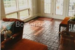 Bomanite Basketweave Interior Brick Floor Imprinted Concrete
