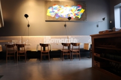 Because Bomanite Micro-Top tenaciously bonds to virtually any substrate, it is the perfect product to create a unified space when there are multiple flooring surfaces to cover and inside the Elmwood restaurant the installation created a cohesive and distinctive design aesthetic throughout the space.