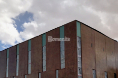 Bomanite Paténe Artectura is a topically applied coloration system that was utilized at the Beast Urban Park recreational facility in El Paso, TX to create a semi-weathered, antiquing effect on the vertical concrete panels that make up the exterior and the combination of the acid-based stain and acrylic sealant ensure that the application will last a lifetime in the arid El Paso climate.